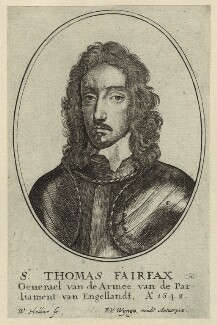 Thomas Fairfax, 3rd Lord Fairfax of Cameron, by Wenceslaus Hollar, after  Robert Walker - NPG D23417