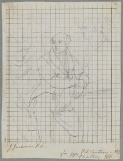 Sir Francis Leggatt Chantrey, by Henry Bone, after  John Jackson, 1831 (exhibited 1830) - NPG D17472 - © National Portrait Gallery, London
