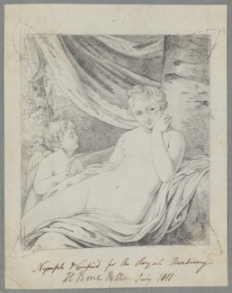 Nymph and Cupid, by Henry Bone - NPG D17480
