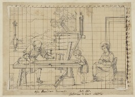 Holy Family in the Carpenter's Shop, by Henry Bone, probably after  Annibale Carracci - NPG D17484