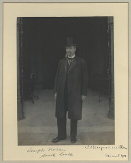 Joseph Nolan, by Sir (John) Benjamin Stone, March 1911 - NPG x32578 - © National Portrait Gallery, London