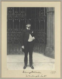 Sir Henry Norman, 1st Bt, by Benjamin Stone - NPG x32580