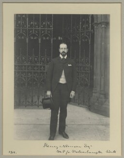 Sir Henry Norman, 1st Bt, by Benjamin Stone - NPG x32581