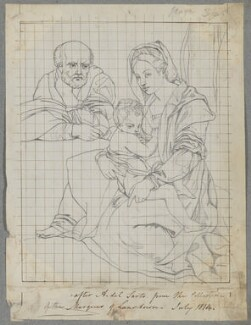 Holy Family, by Henry Bone, after  Andrea del Sarto - NPG D17494