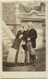 Caroline Blanche Elizabeth (née FitzRoy), Lady Lindsay; Sir Coutts Lindsay, 2nd Bt, by Thomas Buist - NPG x8474