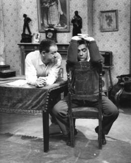 Sid James; Tony Hancock, by Bob Collins, 1959 - NPG x45334 - © estate of Bob Collins / National Portrait Gallery, London