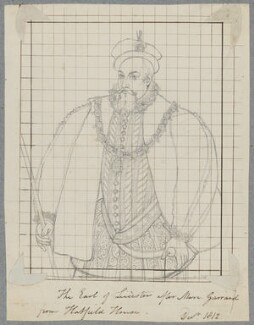 Robert Dudley, 1st Earl of Leicester, by Henry Bone, after  Unknown artist - NPG D17514