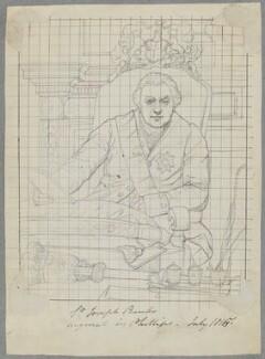 Sir Joseph Banks, Bt, by Henry Bone, after  Thomas Phillips - NPG D17519