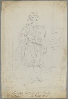 Thomas Hope, by Henry Bone, after  Sir William Beechey, December 1805 (exhibited 1799) - NPG D17525 - © National Portrait Gallery, London