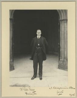 Herbert Pike Pease, 1st Baron Daryngton, by Benjamin Stone - NPG x33983