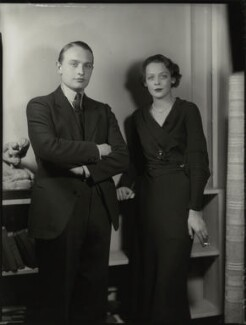 Charles John Lyttleton, 10th Viscount Cobham; Viola Maud Grosvenor (née Lyttelton), Duchess of Westminster, by Bassano Ltd - NPG x151025