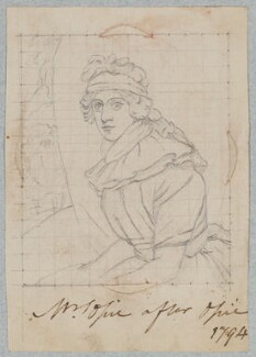 probably Mary Opie (née Bunn), by Henry Bone, after  John Opie - NPG D17552