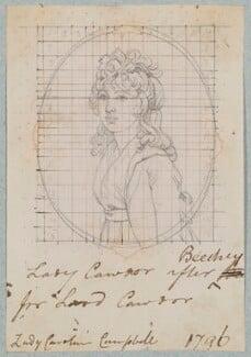 Isabella Caroline Campbell (née Howard), Lady Cawdor of Castlemartin, by Henry Bone, after  Sir William Beechey - NPG D17556