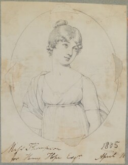 Miss Thompson, by Henry Bone, after  Unknown artist - NPG D17593