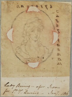 Lady Harriet Baring (née Herring), by Henry Bone, after  Philip Jean - NPG D17600