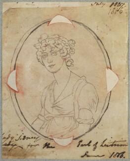 Caroline Elizabeth Letitia Townshend (née Clements), Viscountess Sydney, by Henry Bone, after  Unknown artist - NPG D17602
