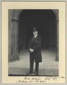 William Henry Holland, 1st Baron Rotherham, by Benjamin Stone - NPG x20401
