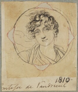 Victoire Pauline de Riquet de Carama, Vicomtesse de Vaudreuil, by Henry Bone, after  Elisabeth-Louise Vigée-Le Brun - NPG D17609
