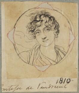 Victoire Pauline de Riquet de Caraman, Vicomtesse de Vaudreuil, by Henry Bone, after  Elisabeth-Louise Vigée-Le Brun - NPG D17609