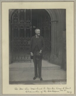 Michael Edward Hicks Beach, 1st Earl St Aldwyn, by Benjamin Stone - NPG x8693