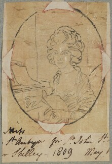 Possibly Elizabeth St Aubyn, by Henry Bone, after  Samuel Shelley - NPG D17625
