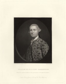 William Wildman Barrington, 2nd Viscount Barrington, by W.A. Rainger, after  Sir Joshua Reynolds, published 1864 (1762) - NPG D23470 - © National Portrait Gallery, London