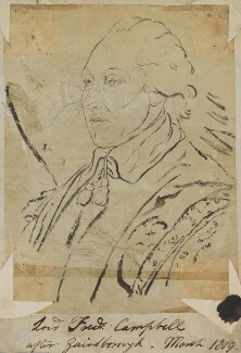 Lord Frederick Campbell, by Henry Bone, after  Thomas Gainsborough - NPG D17635