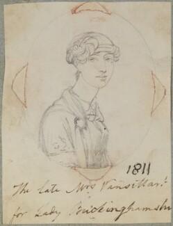 Sarah Vansittart (née Stonhouse), by Henry Bone, after  Unknown artist - NPG D17650