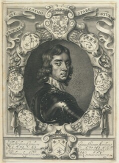 John Mordaunt, 1st Viscount Mordaunt of Avalon, by William Faithorne, after  Adriaen Hanneman - NPG D22869