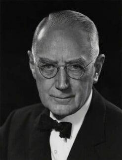 Sir (Charles) Geoffrey Vickers, by Godfrey Argent - NPG x88101
