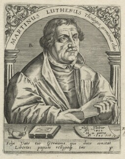 Martin Luther, by Robert Boissard, after  Lucas Cranach the Elder - NPG D23476