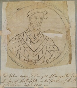 Called John Howard, 1st Duke of Norfolk, by Henry Bone, after  Unknown artist - NPG D17703