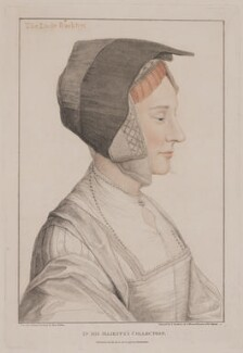 Elizabeth Dauncey (née More), by Francesco Bartolozzi, after  Hans Holbein the Younger, published 1795 - NPG D23485 - © National Portrait Gallery, London