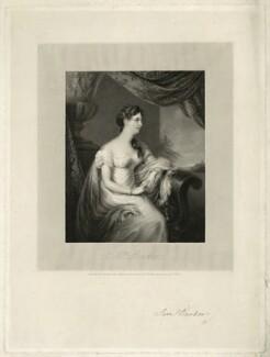 Mrs Barker, by Richard Woodman, after  H.J. Harding, after  John Philip Davis ('Pope' Davis) - NPG D23486