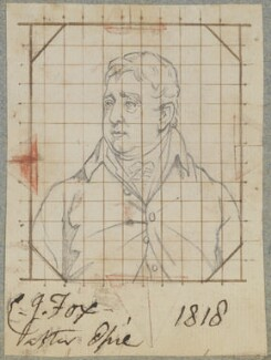Charles James Fox, by Henry Bone, after  John Opie - NPG D17727