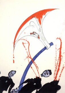 Margaret Thatcher, by Gerald Scarfe - NPG 6476