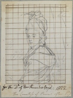 Henrietta Antonia Clive (née Herbert), Countess of Powis, by Henry Bone, after  Sir Joshua Reynolds - NPG D17742