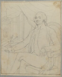 Unknown man, possibly James Boswell, by Henry Bone, possibly after  Sir Joshua Reynolds - NPG D17755