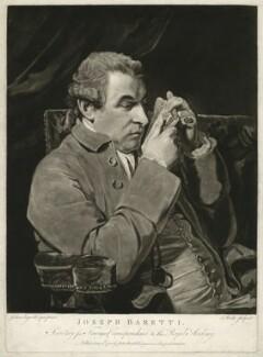 Giuseppe Baretti, by John Watts, published by  John Boydell, after  Sir Joshua Reynolds - NPG D23501