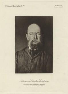 Algernon Charles Swinburne, by Crowdy & Loud, after  Elliott & Fry - NPG x26688