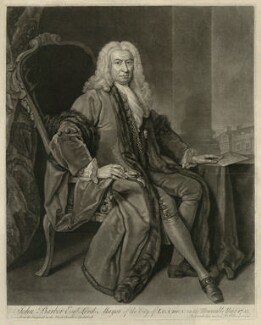 John Barber, by John Faber Jr, after  Bartholomew Dandridge - NPG D23503