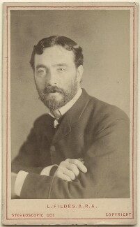 Luke Fildes, by London Stereoscopic & Photographic Company - NPG x27579