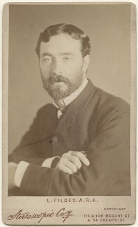 Luke Fildes, by London Stereoscopic & Photographic Company - NPG x11851