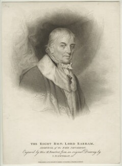 Charles Middleton, 1st Baron Barham, by Marie Anne Bourlier, published by  T. Cadell & W. Davies, after  John Downman - NPG D23510