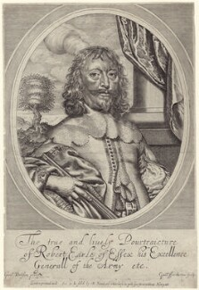 Robert Devereux, 3rd Earl of Essex, by William Faithorne, published by  Peter Stent, after  William Dobson - NPG D22905