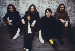 The Beatles (George Harrison; John Lennon; Paul McCartney; Ringo Starr) with Yoko Ono, by Linda McCartney - NPG x128728