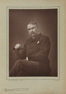 Sir William Schwenck Gilbert, by Herbert Rose Barraud, published by  Eglington & Co, published 1890 - NPG Ax5508 - © National Portrait Gallery, London