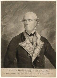 Samuel Barrington, by Richard Earlom, published by  Robert Sayer, after  Sir Joshua Reynolds - NPG D21463