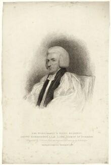 Shute Barrington, by Charles Picart, after  Henry Edridge, published 1810 - NPG D21469 - © National Portrait Gallery, London