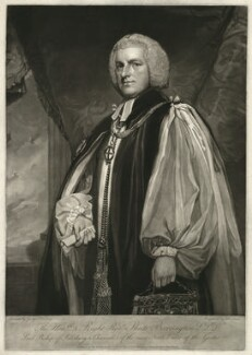 Shute Barrington, by John Jones, after  George Romney - NPG D21472